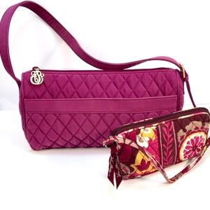 Vera Bradley Berry Quilted Shoulder Bag & Wristlet